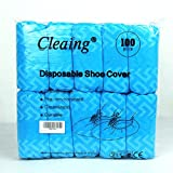 Cleaing Blue Disposable Boot & Shoe Covers Machine-made , 100 Piece (Standard)