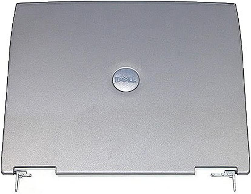 8M669-Dell Latitude D600 Laptop LCD Rear Cover with Latch and Hinges-8M669
