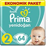 Prima Bebek Bezi Yeni Bebek 2 Beden Mini Ekonomik Paket 64 Adet