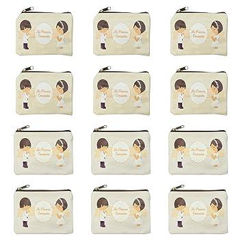 12 monederos de comunion niña y niño,monederos infantiles,ideal detalles comunion para invitados niñas y niños-cuadrado