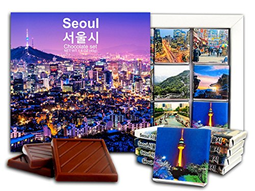 DA CHOCOLATE Candy Souvenir SEOUL Chocolate Gift Set 5x5in 1 box (Panoramic)