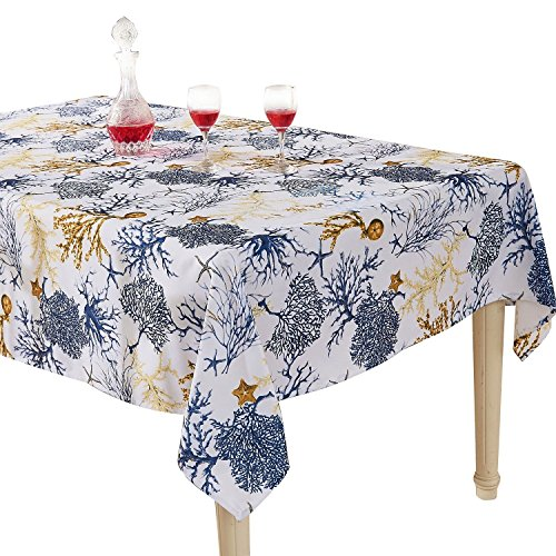 YEMYHOM Modern Printed Spill Proof Cloth Rectangle Tablecloth