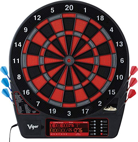 Viper Specter Electronic Dartboard, Double Tall LCD Cricket Scoreboard, Bilingual Voice Scoring, Built In Storage, Ultra Thin Spider For Increased Scoring Area, Powered By An AC Adapter Or Batteries ()