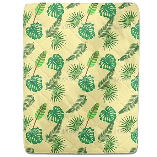 Tropical Leaf Jungle Fitted Sheet: King Luxury Microfiber, Soft, Breathable by uneekee