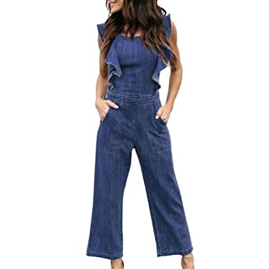 7e19cc86dcb9 Amazon.com  Hmlai Denim Jumpsuit