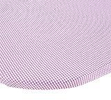 BabyDoll Gingham Moses Basket Sheet, Lavender, 14 ''x 30''