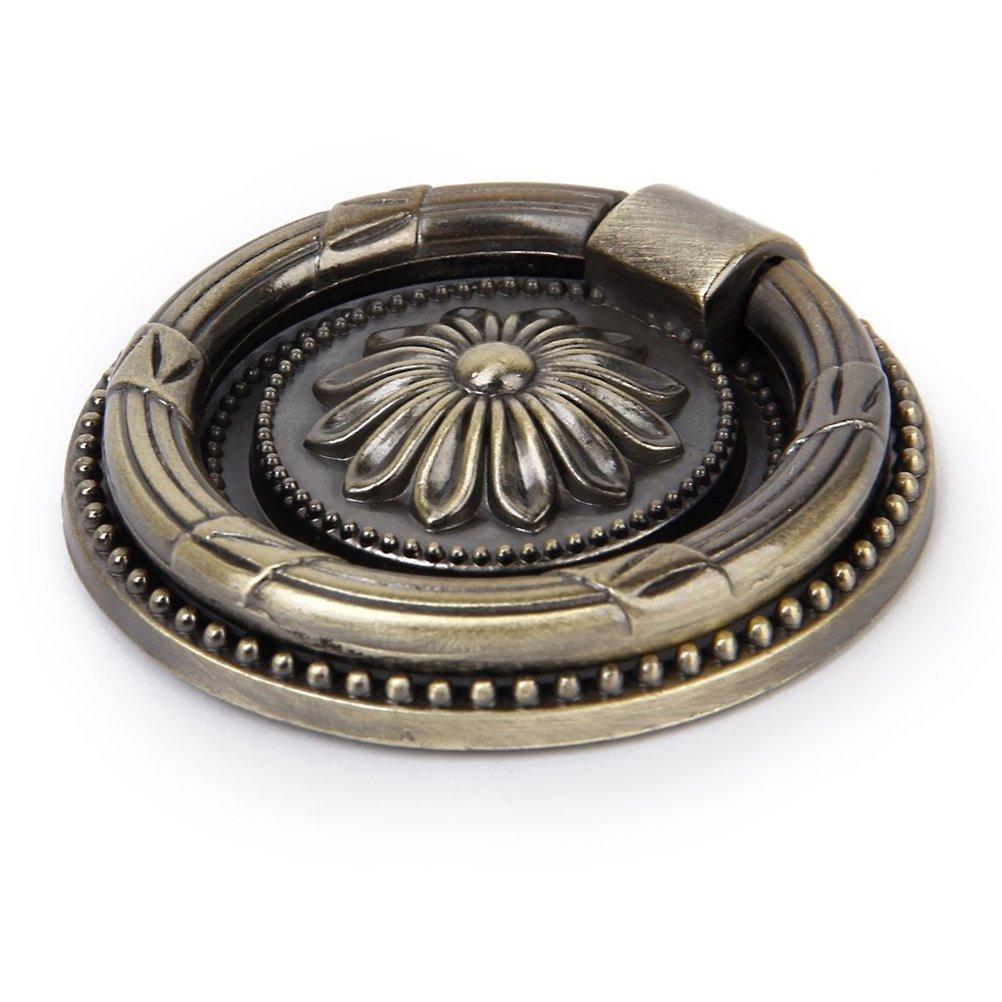 PIXNOR Tiradores De Cajon De Armario Perilla Manija De Armario y Puerta bronce antiguo 10 piezas