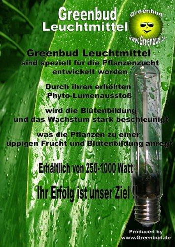 Greenbud lampadina HPS ai vapori di sodio 400 W etichetta in lingua italiana non garantita