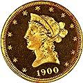 1900 P $10 Liberty Gold (Proof) Ten Dollar PR64 PCGS CAM