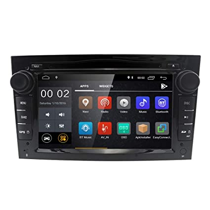 Android 8.1 Doble Din Radio estéreo del coche Pantalla táctil de 7 pulgadas en el tablero Navegación GPS ...