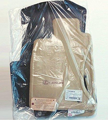 - Lexus Genuine Parts PT208-53068-30 OEM IS250 IS350 Ivory Carpet 4-Piece Floor Mat Set, AWD, All-Wheel Drive