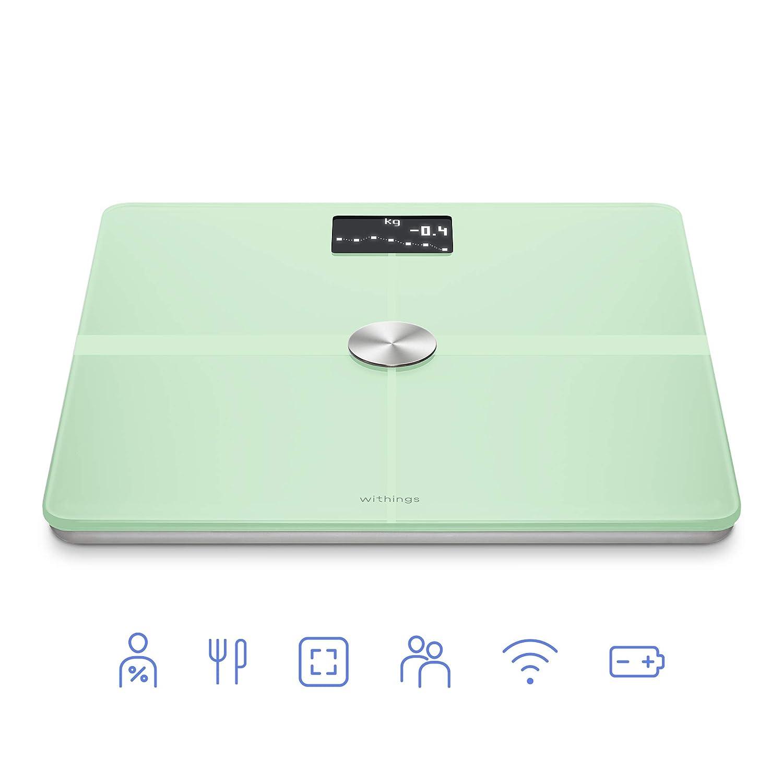 Withings/Nokia Body+ - Báscula wifi de composición corporal, Verde Pastel: Amazon.es: Salud y cuidado personal