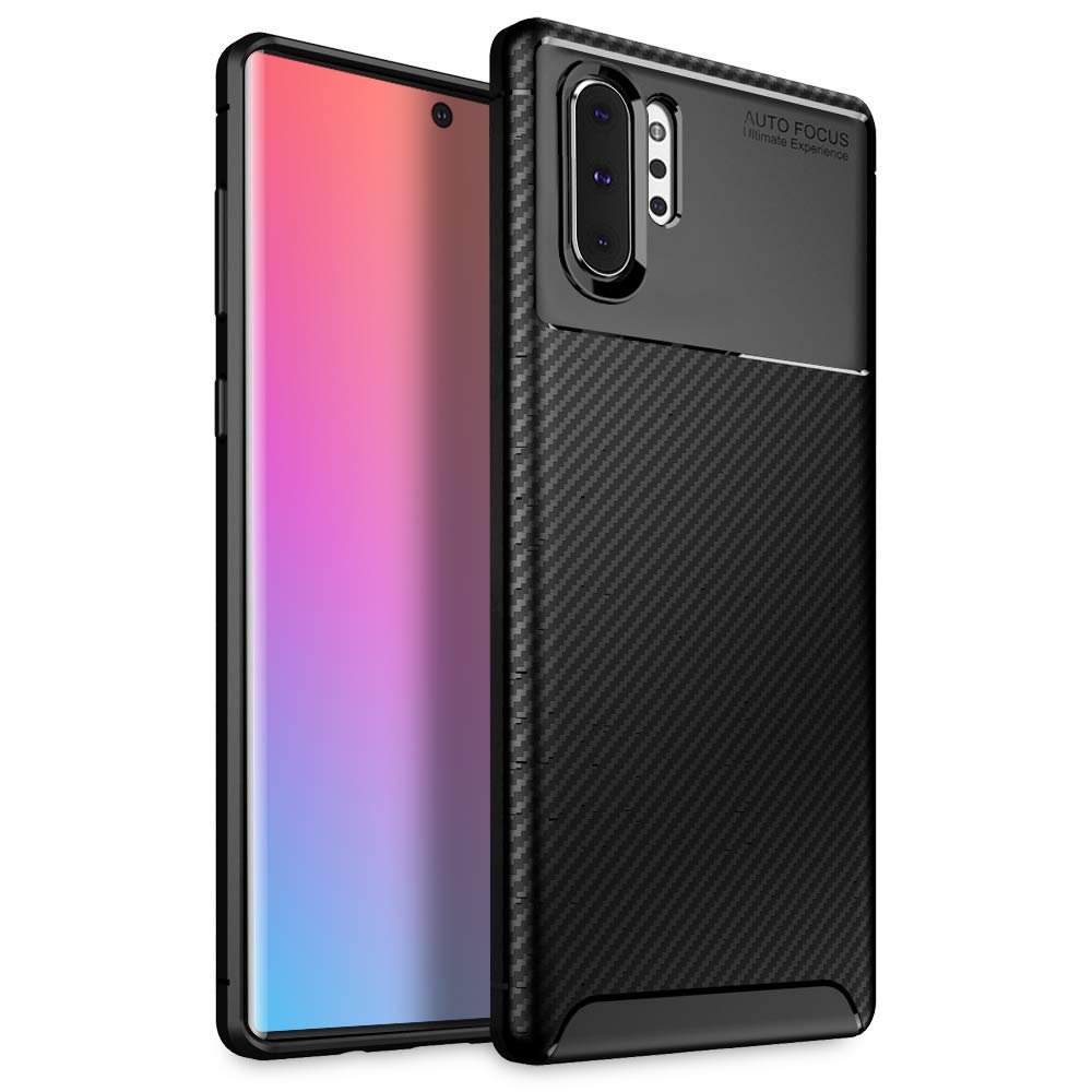 Olixar for Samsung Galaxy Note 10 Plus Carbon Fiber Case - Slim TPU Cover - Thin Protective Cover - Shock Protection - Wireless Charging Compatible - ...