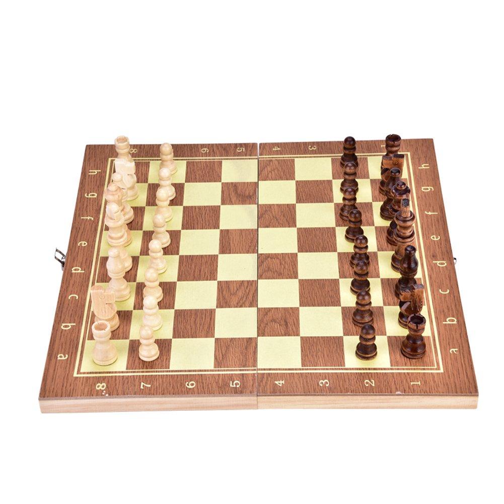 Jeu D'échecs en Bois, Jeu D'échecs Pliant en Bois pour échiquier Portable Jeu D'échecs Pliant en Bois pour échiquier Portable Dioche .