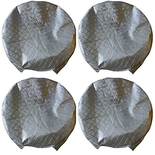 "Set of 4 Tire Covers,Waterproof Aluminum Film Tire Sun Protectors,Fits 27"" to 29"" Tire Diameters,Weatherproof Tire Protectors"