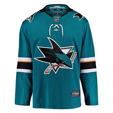 new concept 0396d 87808 Fanatics San Jose Sharks Breakaway NHL Jersey Home Aqua, XL ...