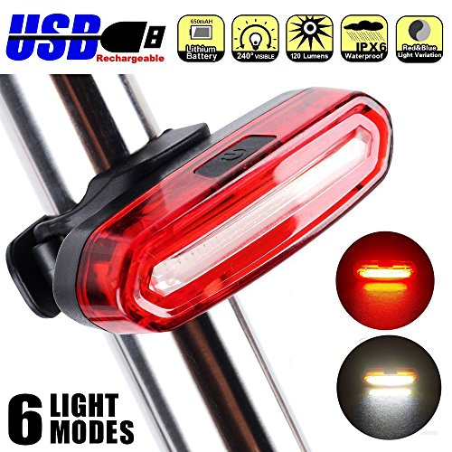 Bicycle Light Hot 100 Lumens Rechargeable Cob Led Usb Mountain Bike Tail Light Taillight Safety Warning Bicycle Rear Light Bicycle Lamp New Utmost In Convenience Cycling
