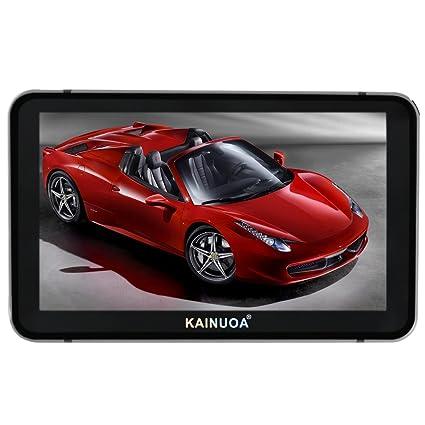 kainuoa 5 Pulgadas GPS Coche GPS Sistema de navegación SpeedCam Reino Unido y Europa Mapas de