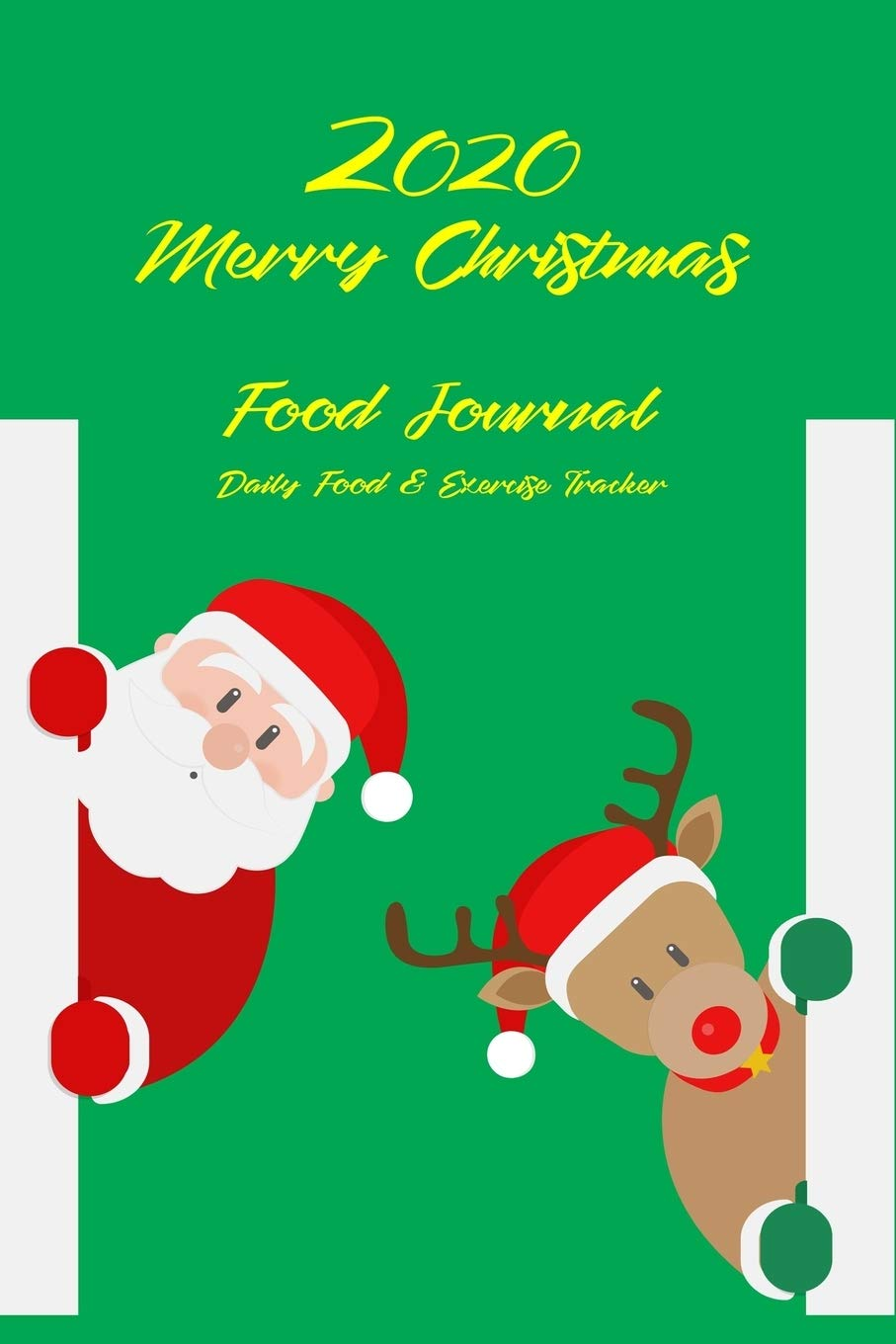 Christmas Food For Coworkers 2020 Under 10 2020 Merry Christmas Food Journal Daily Food & Exercise Tracker