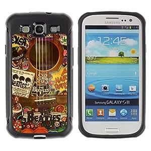 Suave TPU GEL Carcasa Funda Silicona Blando Estuche Caso de protección (para) Samsung Galaxy S3 III I9300 / CECELL Phone case / / Music Artist Instrument Collage /