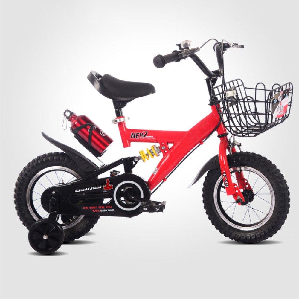 yihangg子供自転車調節可能な軽量トレーニング2 ~ 10 Years Old Boys and Girlsペダルバイク B07D16Z7BB  Red(14Inches)