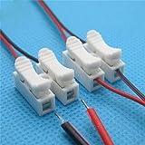Ulable 30pcs Blanc sans soudure Solding rapide connecteur de fil de câble sans Bornes à pince de serrage