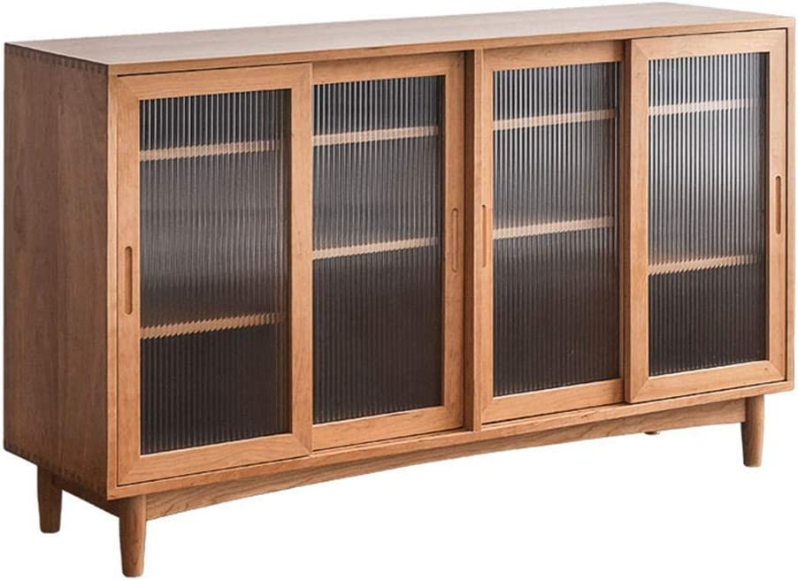 coffee table for living room, Sideboard Storage Cabinet Wood Accent Sideboard Buffet Server Credenza Kitchen Dining Cabinet Cupboard Free Standing Storage Chest (Color : Wood, Size : 160x42x92cm)