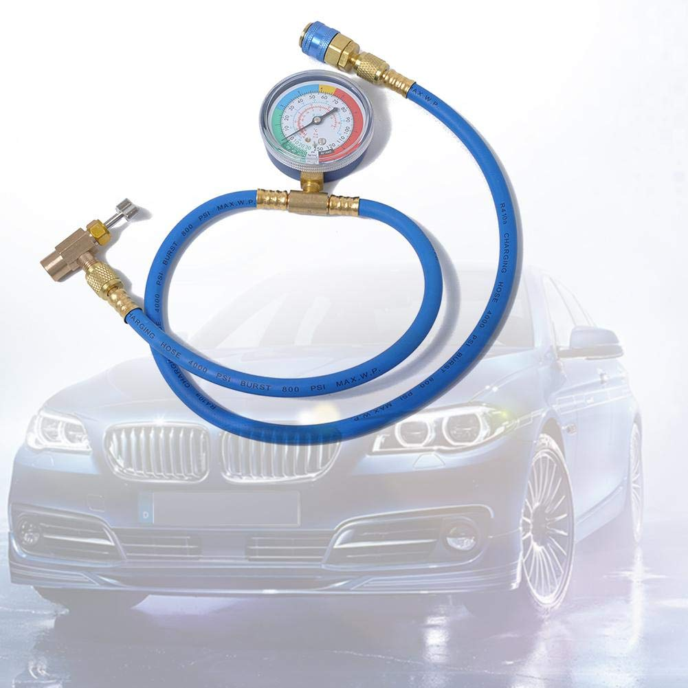 30-250Psi Demiawaking R134A Charging Hose Auto Car Air Conditioning Refrigerant Charging Hose Adapter with Pressure Guage