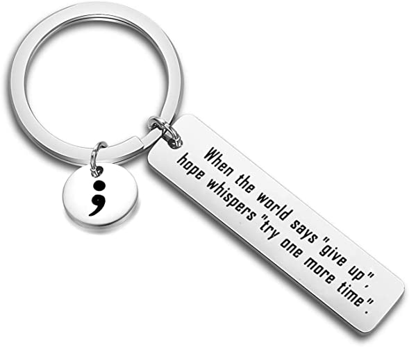 Gzrlyf Life is Tough but so are You Bracelet Semicolon Mental Health Awareness Jewelry Surgery Recovery Gifts