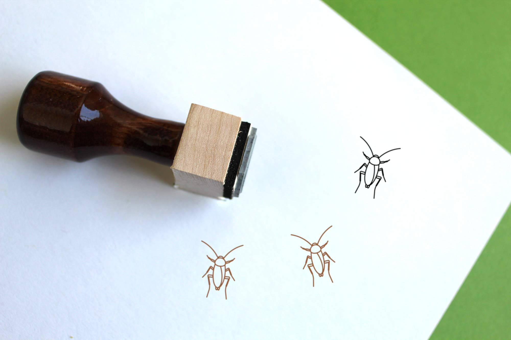 Cockroach Rubber Stamp (2.5'' x 2.5'')
