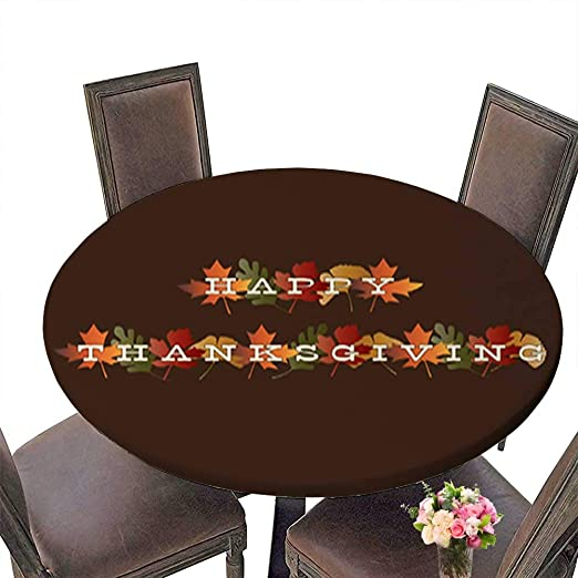 Foot&Mark-Tablecloth Mantel Redondo de poliéster con diseño ...