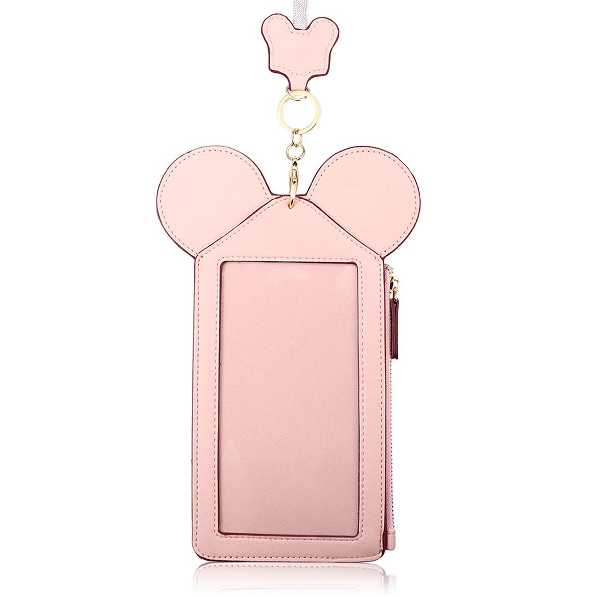 Neck Pouch, Charminer Women Cute Animal Shape Lanyard Phone Purse Neck Bag Travel Documents, Card Holder Coin Purse Neck Bag for 4.7/5.5in Phones Light Pink 4.7in by CHARMINER (Image #1)