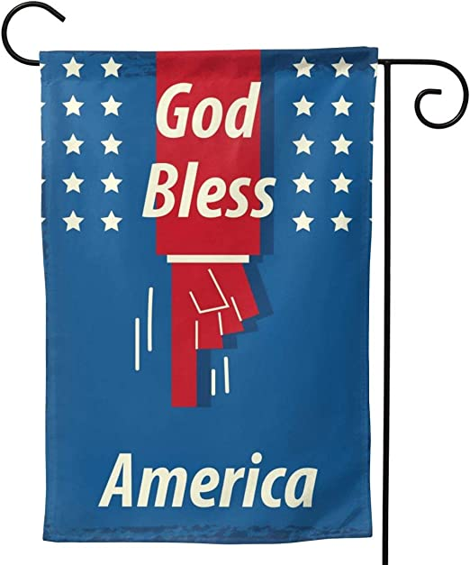 AVOIN Donald Trump Decoration Patriotic Porch Sign Land of The Free Keep America
