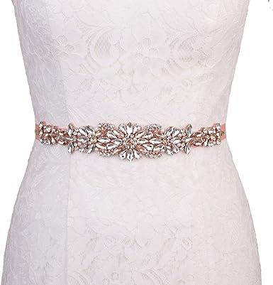 THK-Wedding Women Crystal Wedding belt Rhinestone Wedding Belt Bridal Belt for wedding dress,