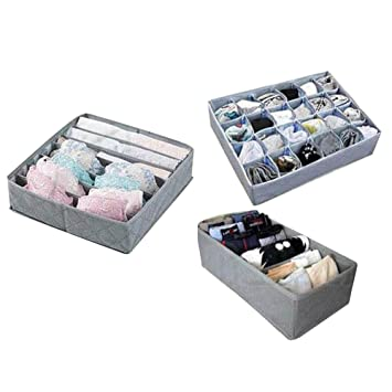 Juego de separadores de ropa plegables para ropa interior, calcetines, organizador, cajón,