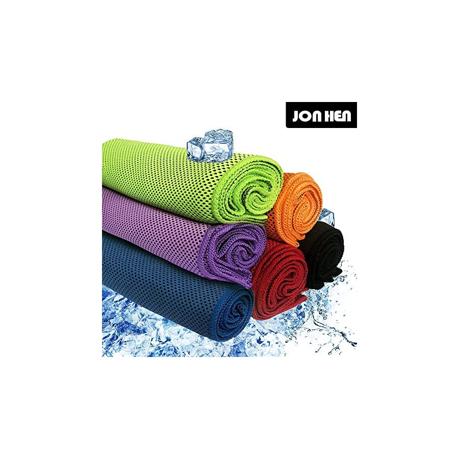 "Jonhen Cooling Towel For Instant Relief,40""x 12"", Fitness Towel Stay Cool for Sport,Pilates,Travel,Golf,Hiking"
