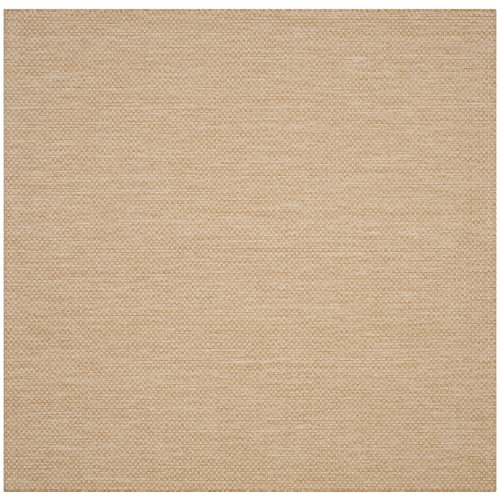 (Safavieh Courtyard Collection CY8521-03012 Natural and Cream Indoor/ Outdoor Square Area Rug (6'7