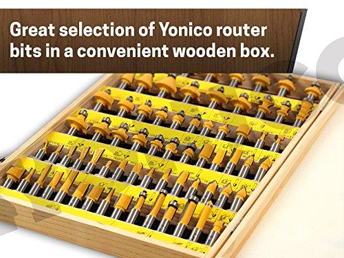 Yonico 17702 70 Bits Professional Quality Router Bit Set
