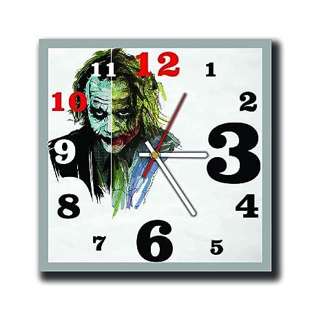 mV The Batman The Joker 11.4 Handmade Wall Clock – Get Unique d cor Home Office Best Gift Ideas Kids, Friends, Parents Your Soul Mates