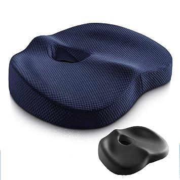 Cojín terapéutico ortopédico de gel para sentarse Cojín ergonómico de espuma de memoria para alivio de