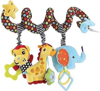 OuYou Beb/é Espiral Juguete de Cochecito de Cama Felpa Familia de Monos Educativo Juguete Colgando Sonajero para Asiento de Carro Cuna M/óvil por SamGreatWorld