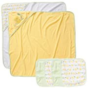 Koala Baby Neutral 2 Pack Towel and 4 Pack Washcloth Set - Yellow Duck