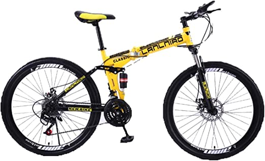 KOSGK Bicicleta MontañA Plegable Bicicleta para NiñOs 26 ...