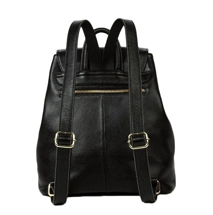 Damentaschen Leder Rucksäcke Reisetaschen Europa u0026 Amerika Mode Outdoor Rucksäcke Geburtstagsgeschenke,Black-OneSize GKKXUE
