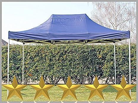 Tenda pieghevole pieghevole gazebo m m blu tenda