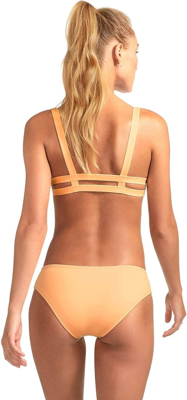 Vitamin A Womens Black Ecolux Neutra Bralette Bikini Top