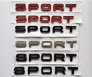 Chrome Silver Black Trunk Lid Letters SPORT Badge Emblem Emblems Badges Sticker for Land Rover Discovery Range Rover (Matte Silver)
