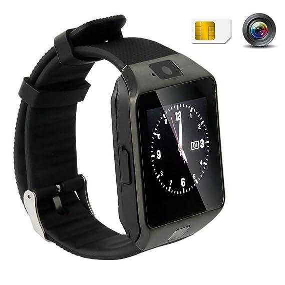 Amazon.com : Hangang SmartWatch Fitness Pedometer Bluetooth Running Watch Sports Watch 1.56 Large Touch Screen Phone Call & Text Reminder DZ09 (black) ...