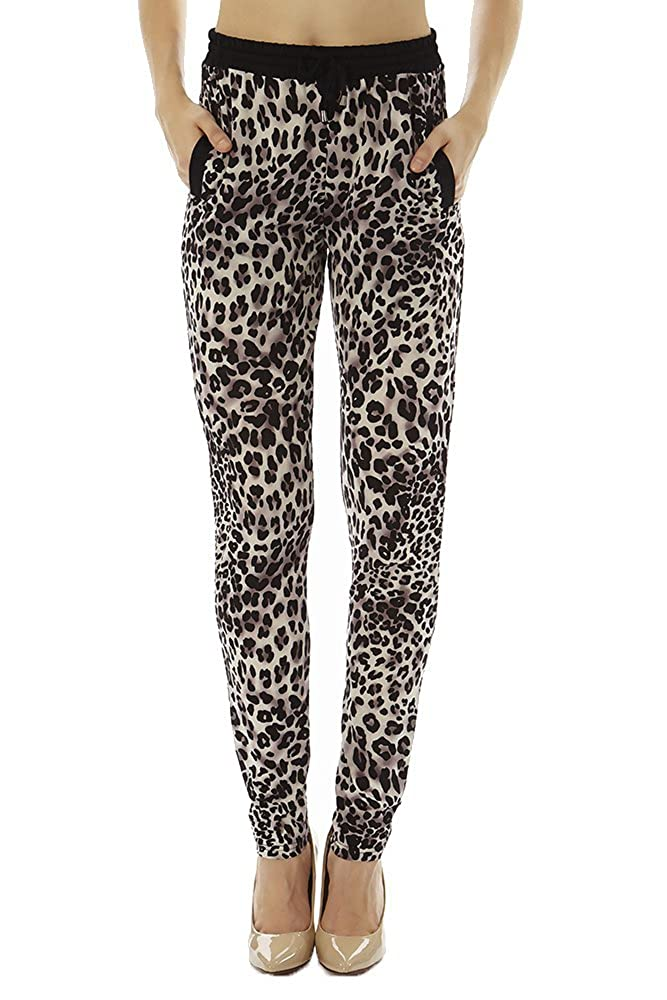 Golden Black Women's Printed Knitted Joggers Pants SBP-J-pp