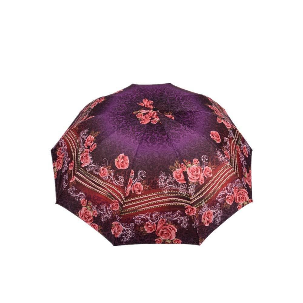 Folding Umbrellas Umbrella Creative Flower Cloth SplashProof Windproof Print Cloth Multicolor Printing Handmade Umbrella (Style 2), YS